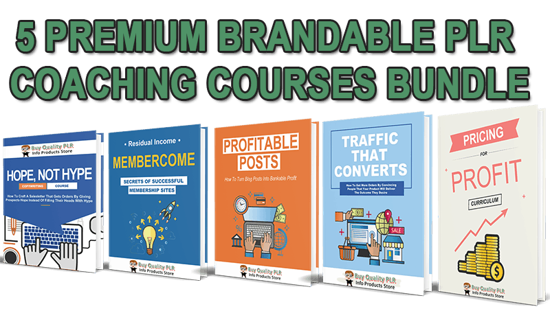 brandable plr coaching courses bundle