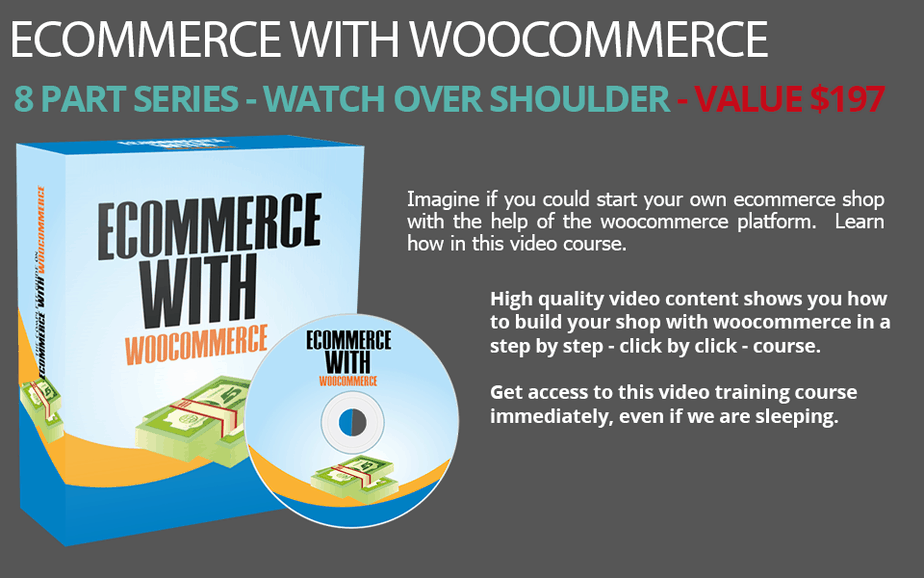 eCommerce with WooCommerce PLR Video Series