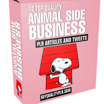 10 Top Quality Animal Side Business PLR Articles and Tweets