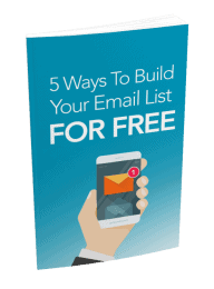 5 Ways To Build Your Email List For Free MRR eBook and Squeeze Page