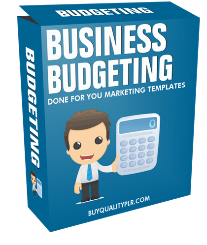 Business Budgeting Done For You Marketing Templates