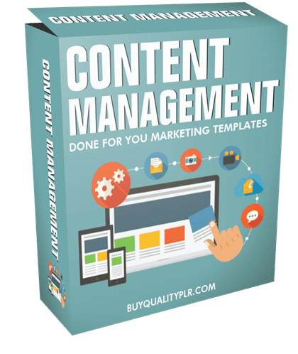Content Management Done For You Marketing Templates