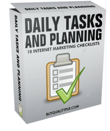 Internet Marketing Checklist Daily Tasks and Planning