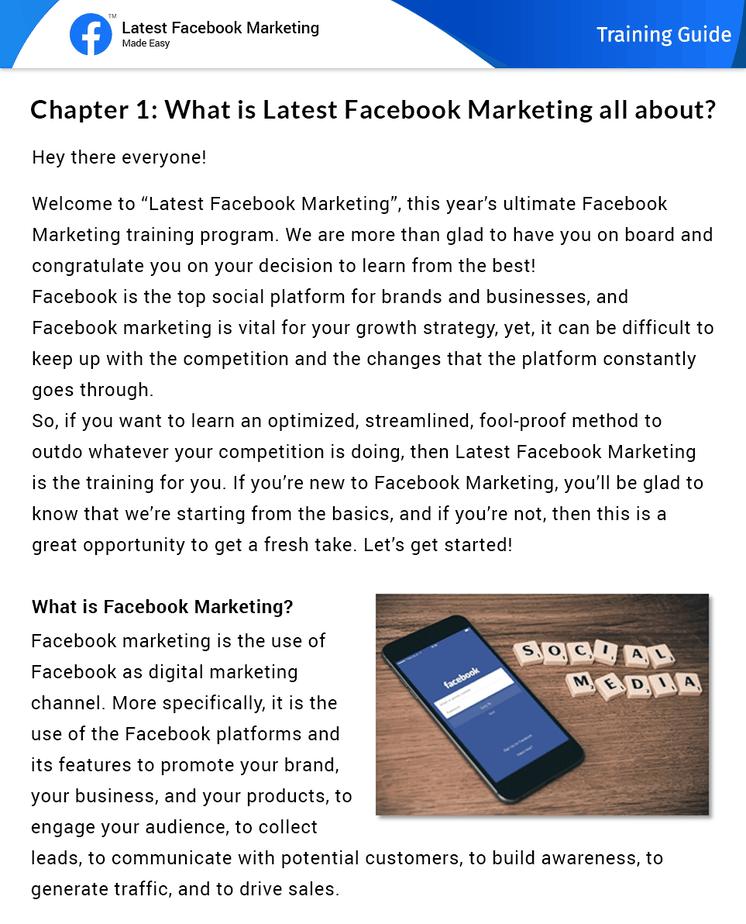 Latest Facebook Marketing Made Easy Insider Look