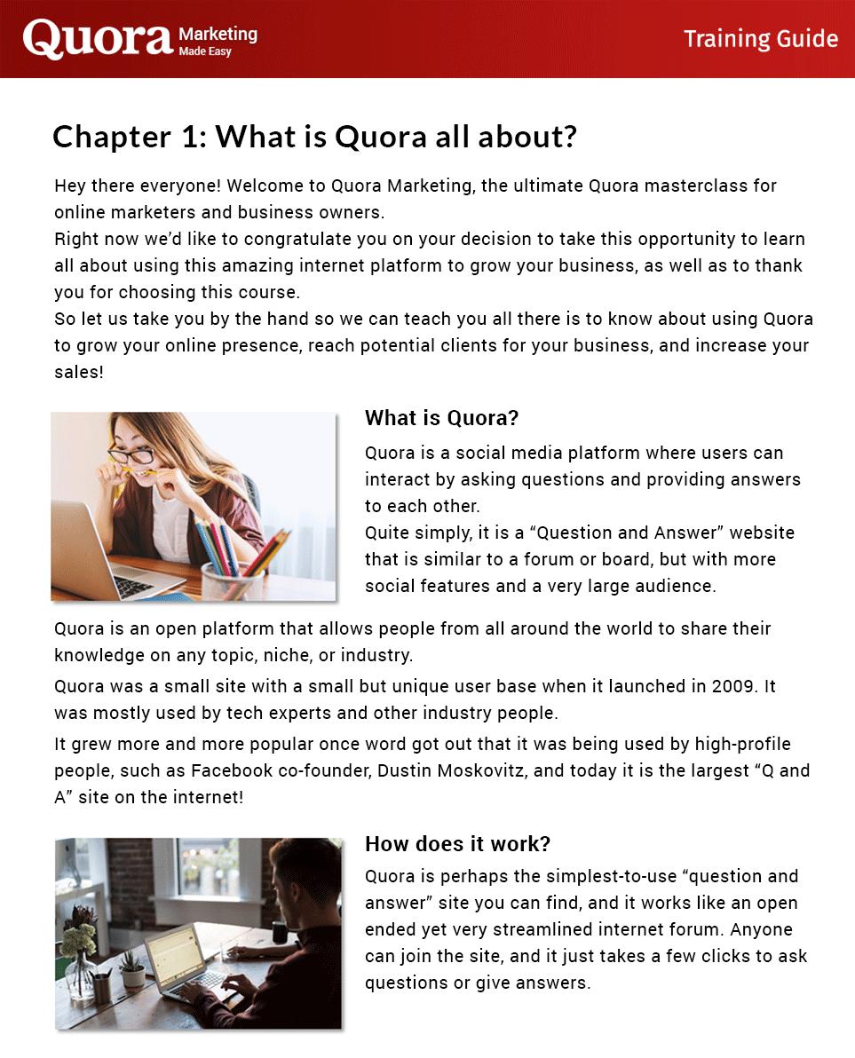 Quora Marketing Made Easy Insider Look
