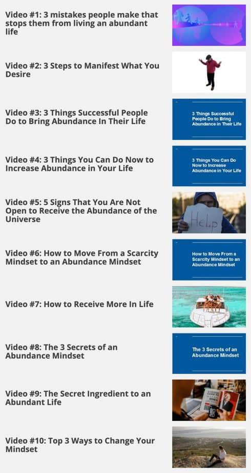 The Abundance Mindset Videos