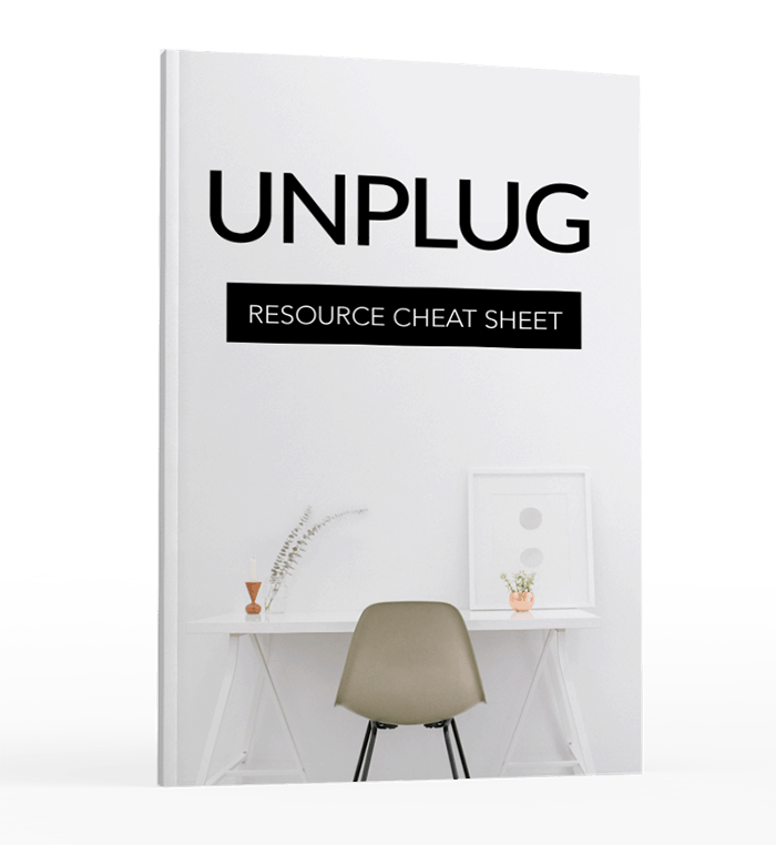 Unplug No Distractions Resource