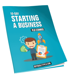 10 Day Starting a Business PLR ECourse