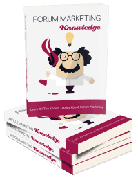Forum Marketing Knowledge Ebook