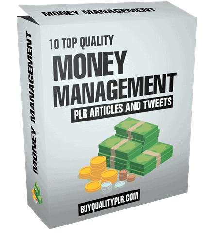 Money Management PLR Articles and Tweets