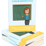 The Rules To Forum Marketing MRR eBook with Squeeze Page