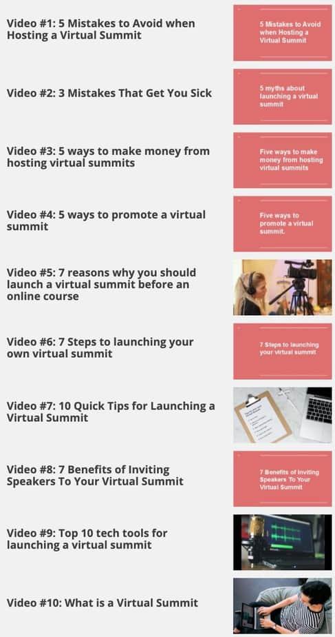 Virtual Summit Secrets Videos