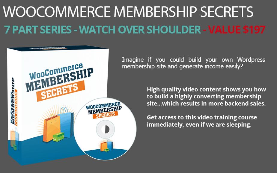 WooCommerce Membership Secrets Scene Cover