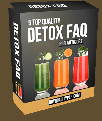 5 Top Quality Detox FAQ PLR Articles