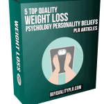 5 Top Quality Weight Loss Psychology Personality Beliefs PLR Articles