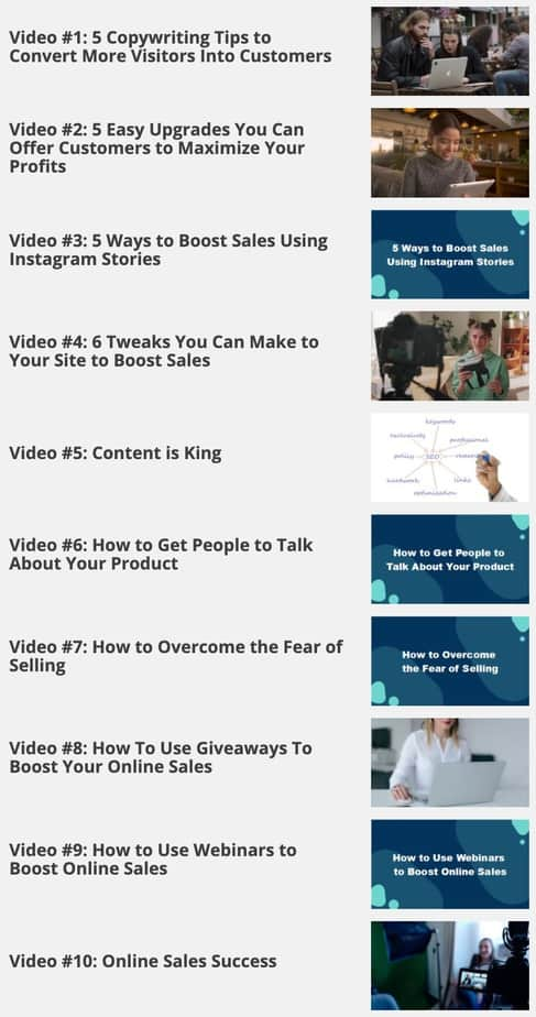 Boost Your Online Sales Videos