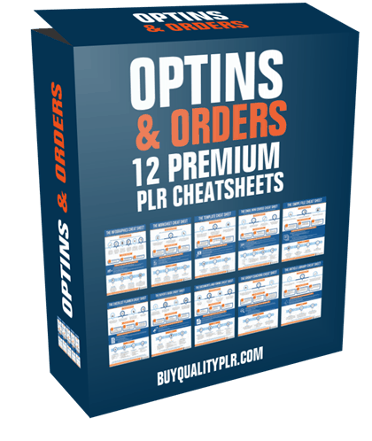 Optins and Orders 12 Premium PLR Cheatsheets