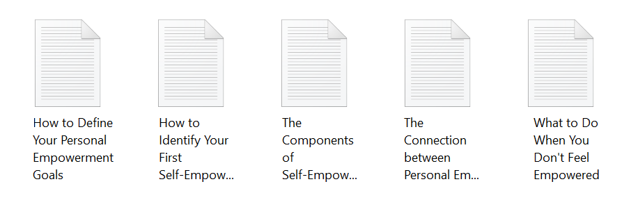Personal Empowerment Articles