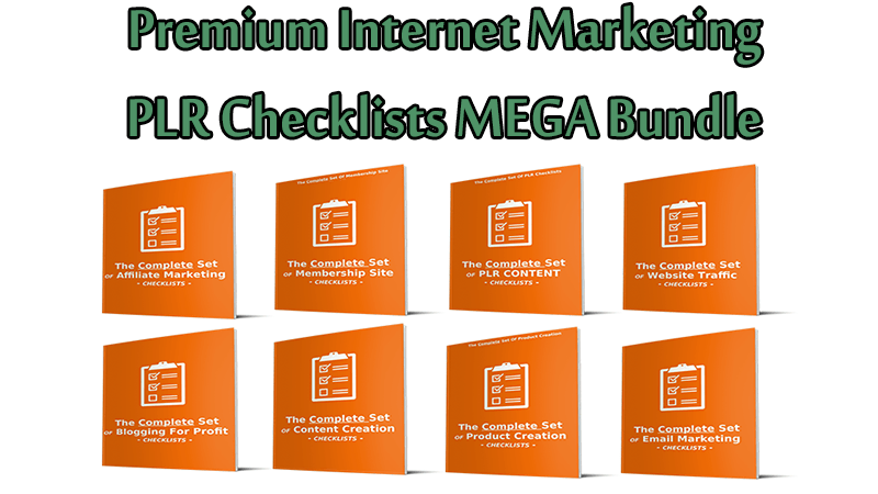 Premium Internet Marketing PLR Checklists MEGA Bundle