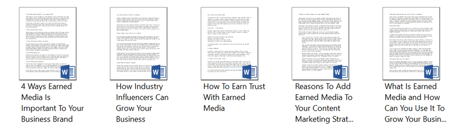 Top Quality Earned Media Articles