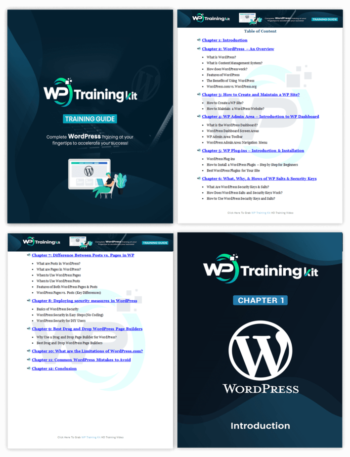 WP Training Kit Training Guide