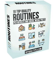 10 Top Quality Routines PLR Articles and Social Media Posts