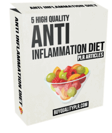5 High Quality Anti Inflammation Diet PLR Articles