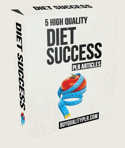 5 High Quality Diet Success PLR Articles