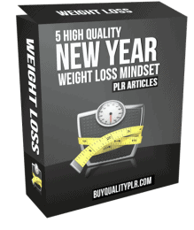 5 High Quality New Year Weight Loss Mindset PLR Articles Pack