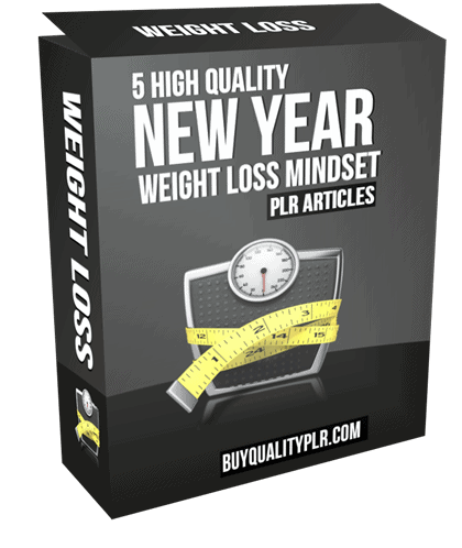 5 High Quality New Year Weight Loss Mindset PLR Articles