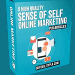 5 High Quality Sense Of Self Online Marketing PLR Articles