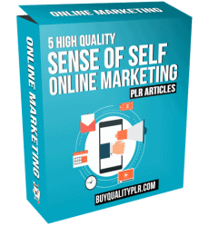 5 High Quality Sense Of Self Online Marketing PLR Articles