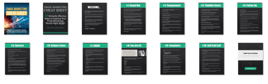 Email Marketing Cheat Sheet Screenshot of PLR Powerpoint Slides