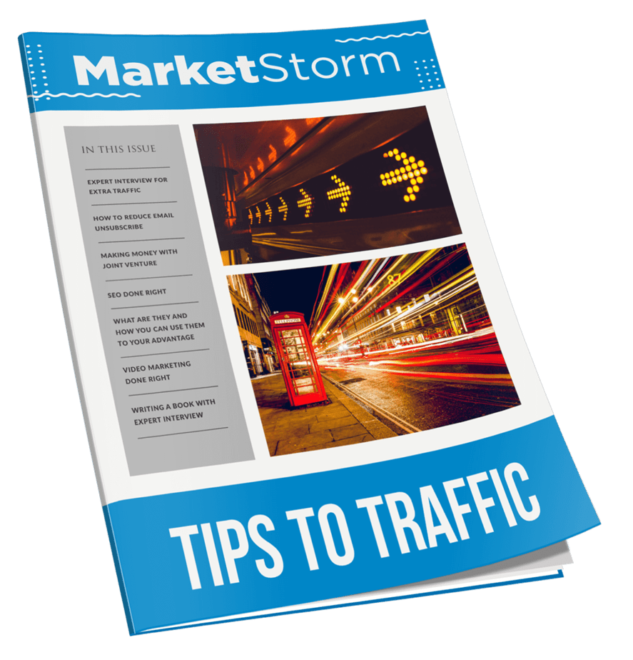 Marketstorm Tips To Traffic MRR Newsletter Magazine