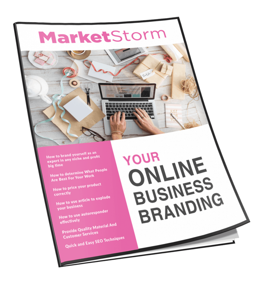 Marketstorm Your Online Business Branding MRR Newsletter Magazine