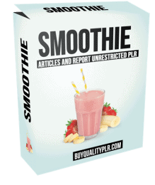 Smoothie PLR Pack Articles and Report Unrestricted PLR