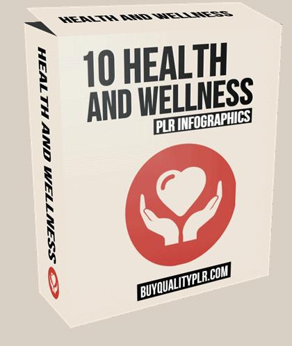 10 Health and Wellness PLR Infographics