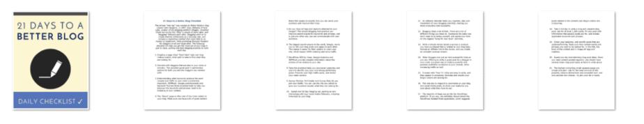 Boost Blog Challenge PLR Checklist Inside Look