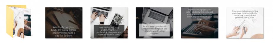 Boost Blog Challenge PLR Social Graphics