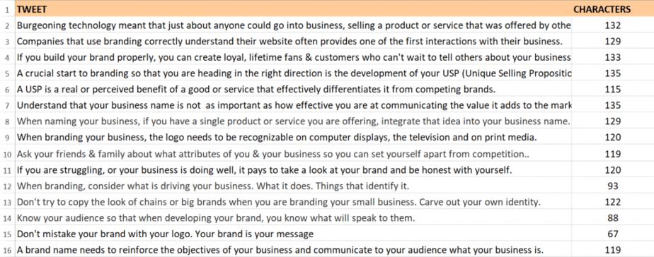 Branding Checklist PLR Tweets