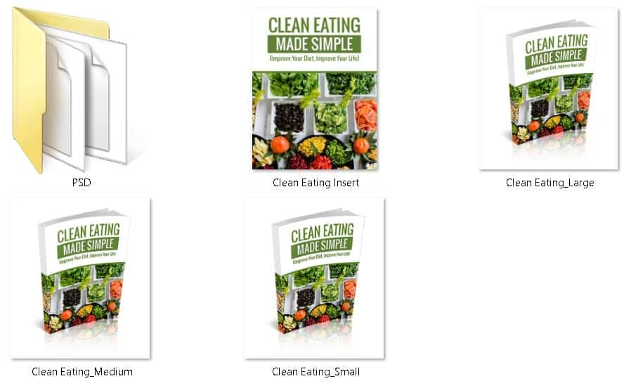 Clean Eating Premium PLR Ecovers