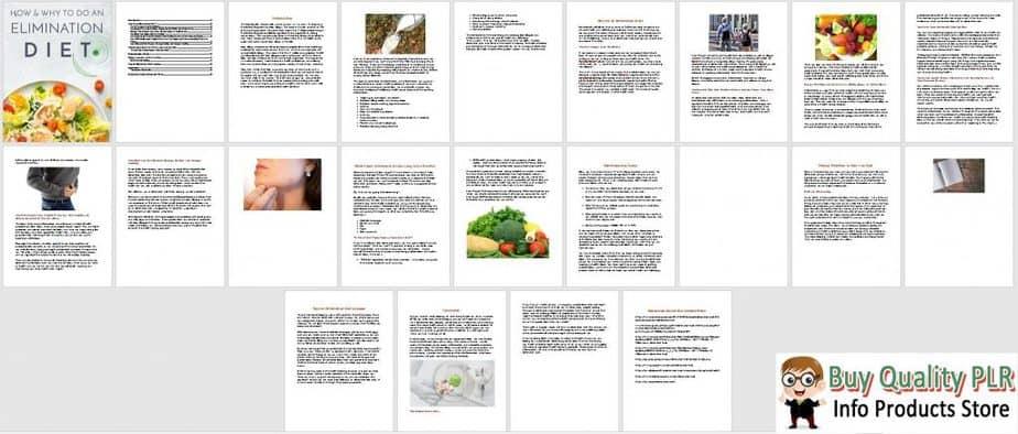 Elimination Diet Premium PLR Ebook Sneak Preview