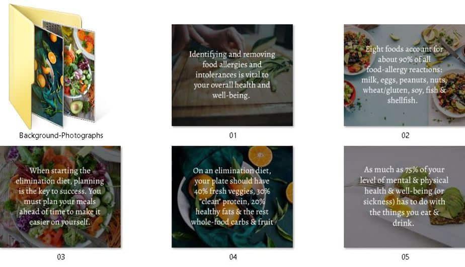 Elimination Diet Premium PLR Social Graphics