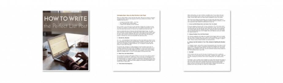 Epic Blog Posts PLR List Post Guide Screenshot