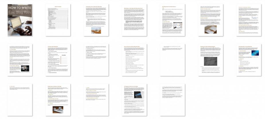 Epic Blog Posts Premium PLR eBook Screenshot