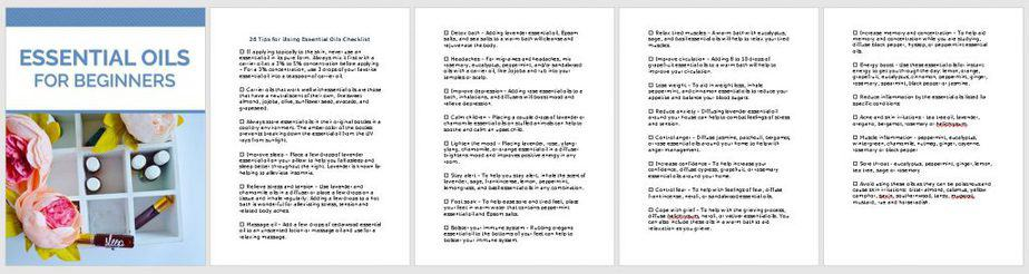Essential Oils PLR Checklist Sneak Preview