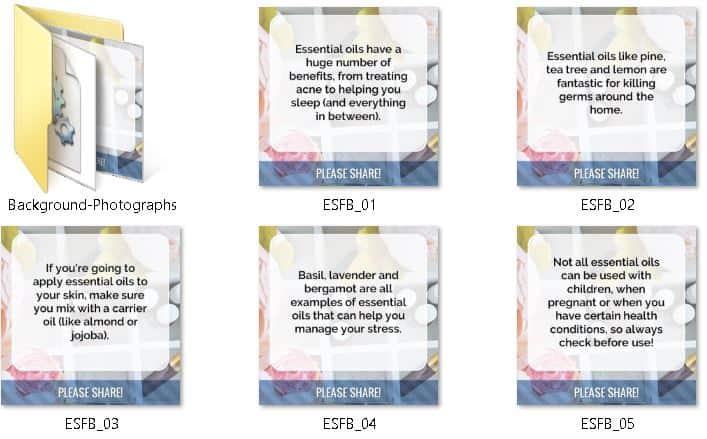 Essential Oils Premium PLR Social Graphics