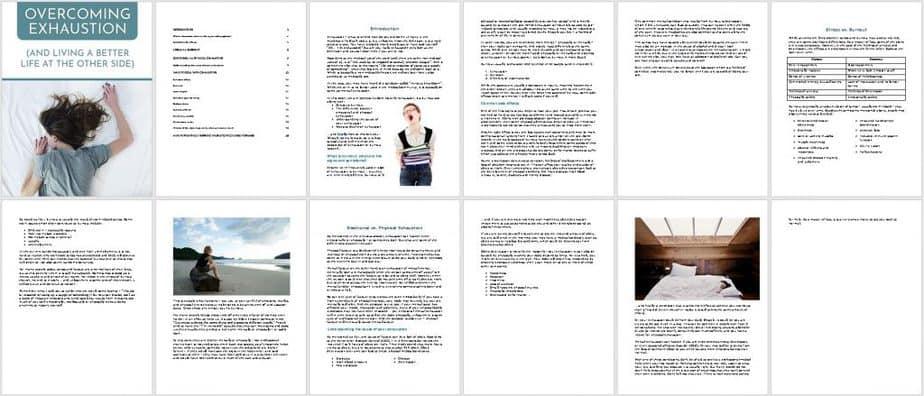 Exhaustion Premium PLR Ebook Sneak Preview