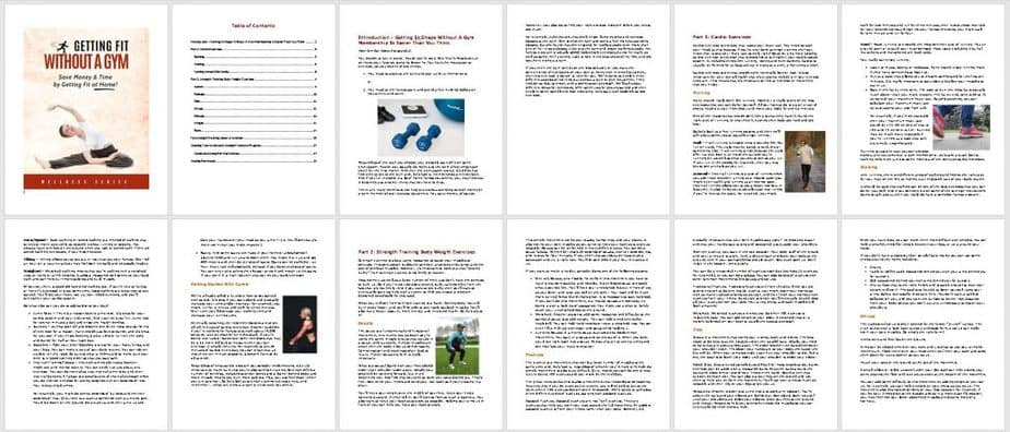 Fit Without A Gym Premium PLR Ebook Sneak Preview