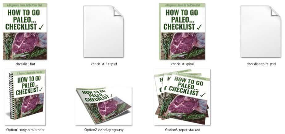 Go Paleo Premium PLR Checklist Ecovers